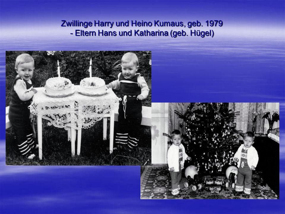 Zwillinge Harry und Heino Kumaus, geb