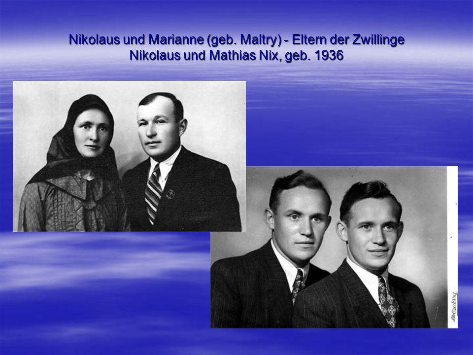 Nikolaus und Marianne (geb