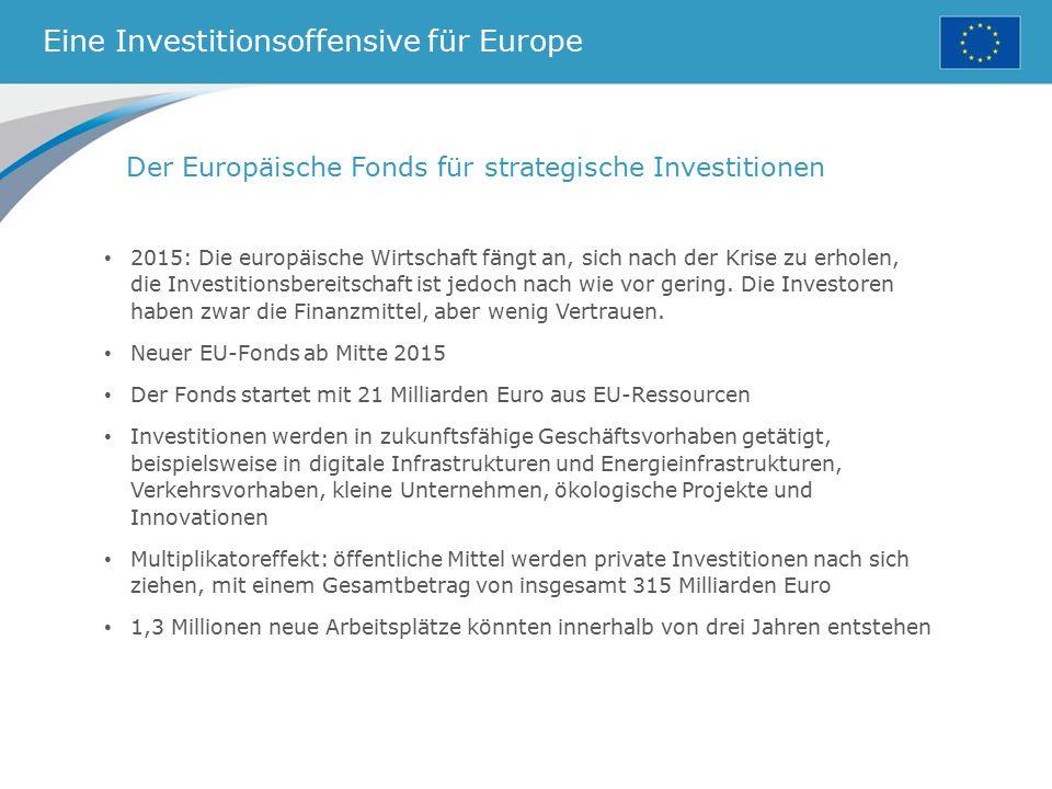 Eine Investitionsoffensive für Europe
