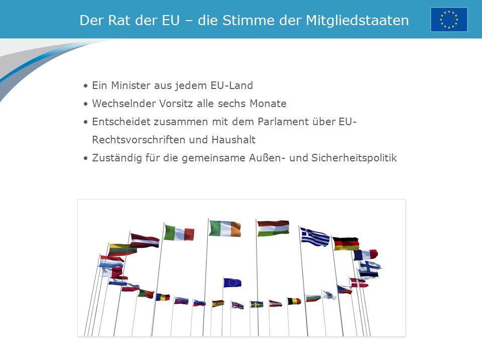 Der Rat der EU – die Stimme der Mitgliedstaaten
