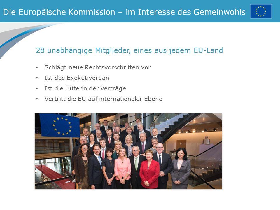 Die Europäische Kommission – im Interesse des Gemeinwohls