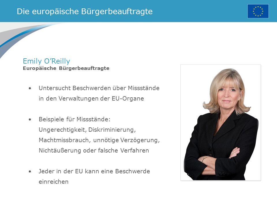 Die europäische Bürgerbeauftragte