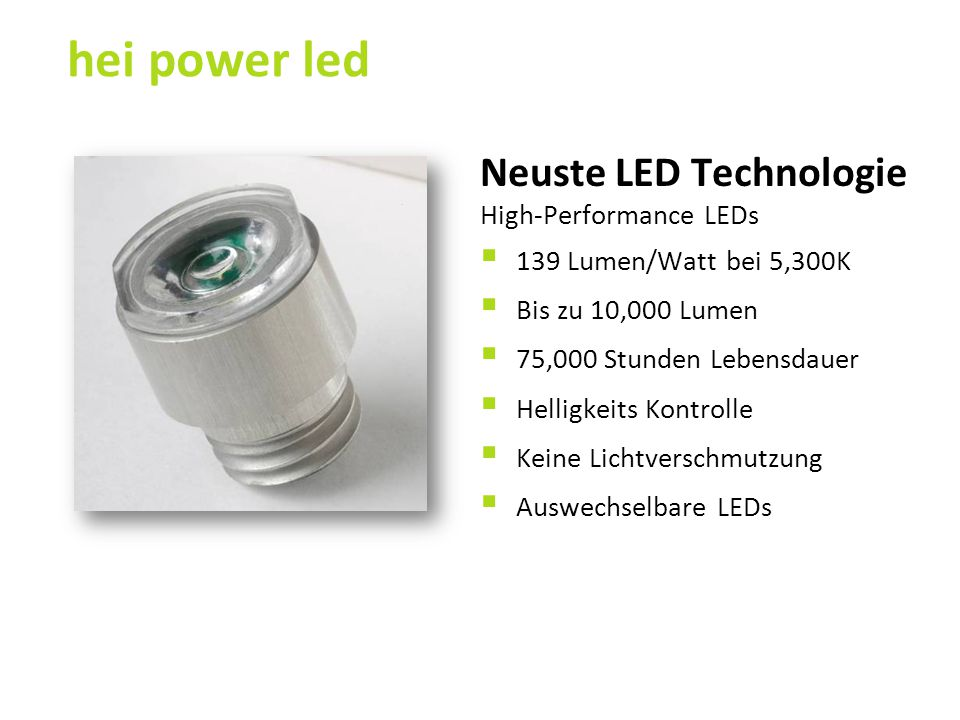 hei power led Neuste LED Technologie High-Performance LEDs