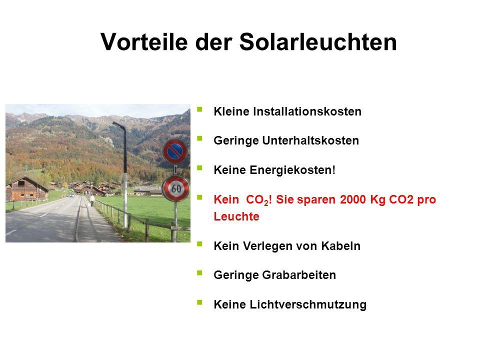 Vorteile der Solarleuchten