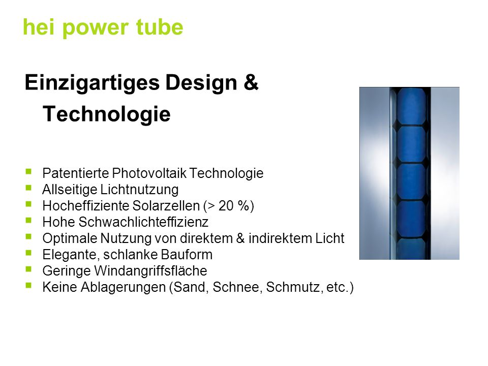 hei power tube Einzigartiges Design & Technologie