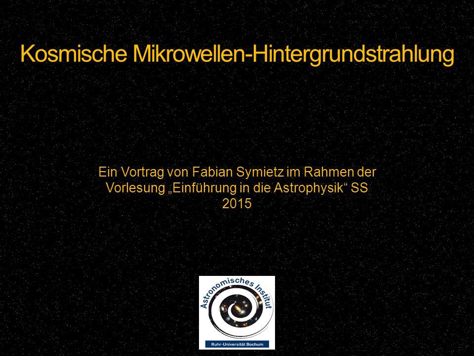 Kosmische Mikrowellen-Hintergrundstrahlung
