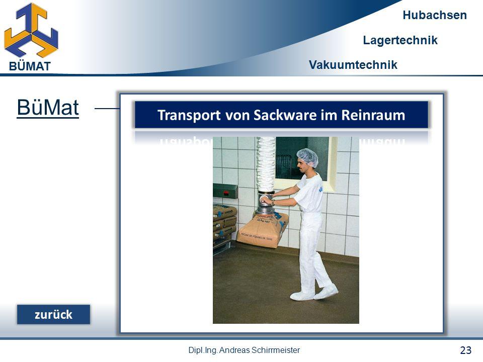 Transport von Sackware im Reinraum