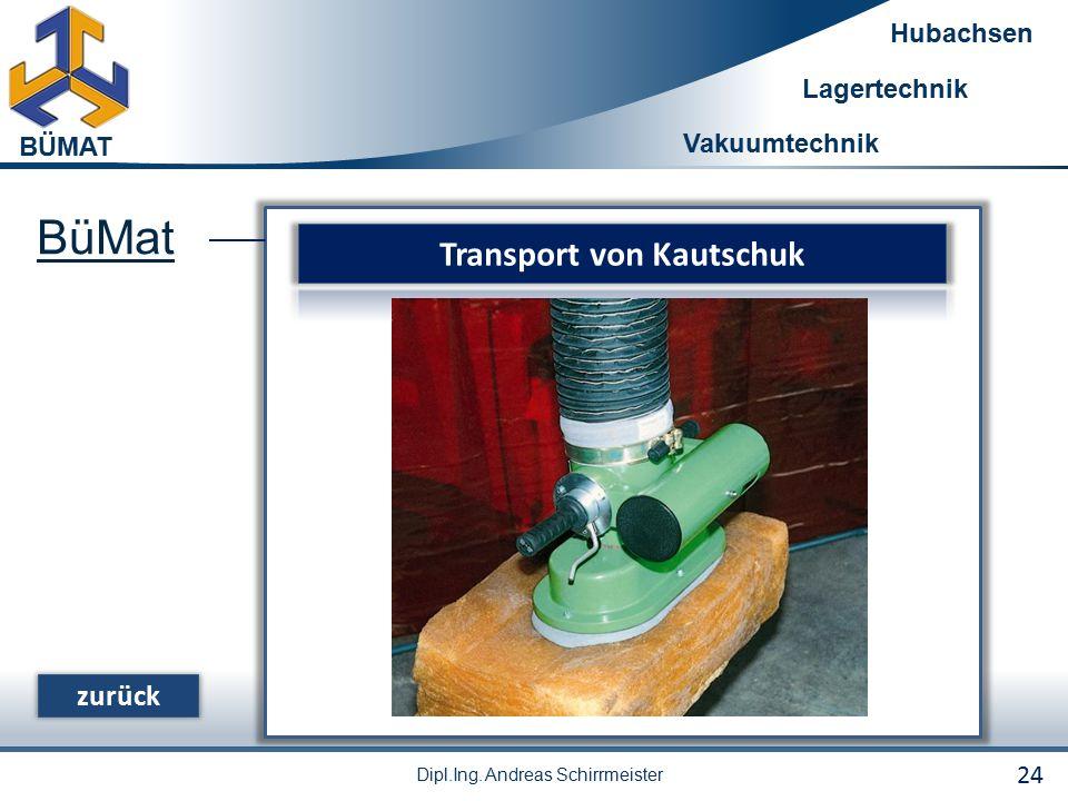 Transport von Kautschuk