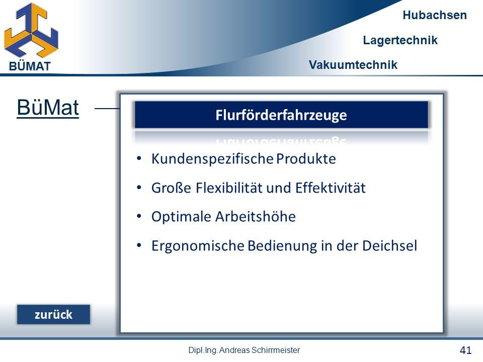 BüMat Flurförderfahrzeuge Kundenspezifische Produkte