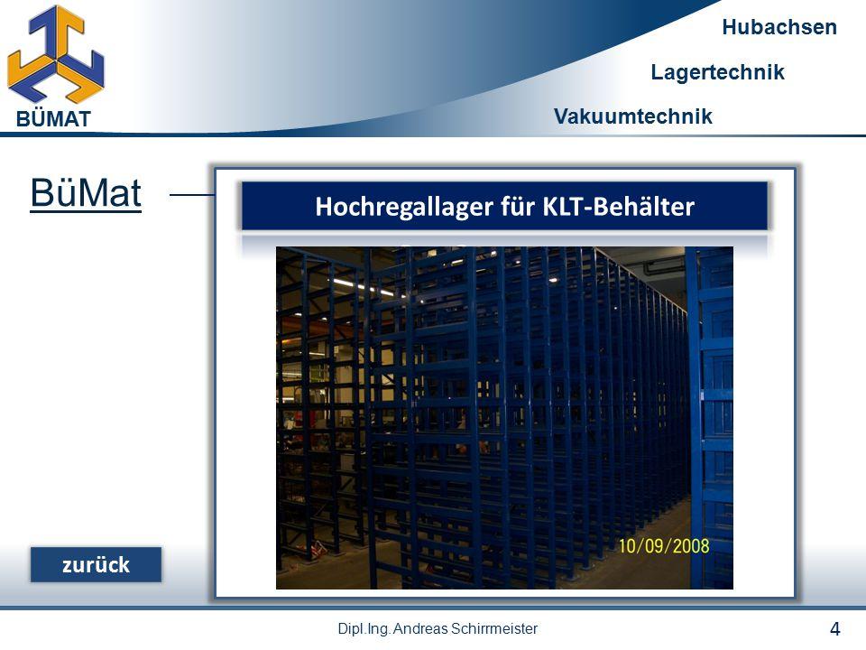 Hochregallager für KLT-Behälter