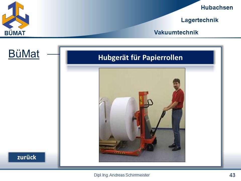 Hubgerät für Papierrollen