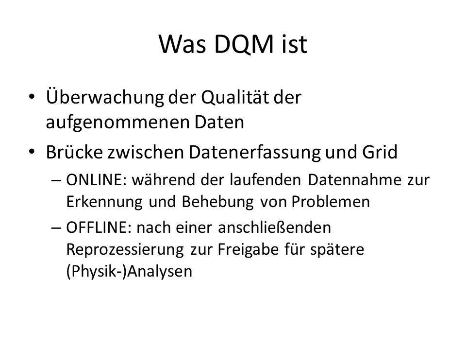 Was DQM ist Überwachung der Qualität der aufgenommenen Daten