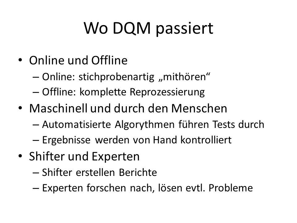 Wo DQM passiert Online und Offline Maschinell und durch den Menschen