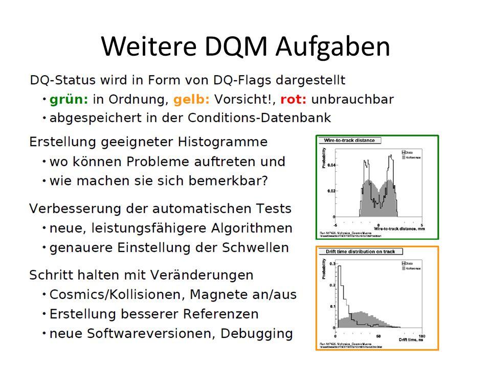 Weitere DQM Aufgaben