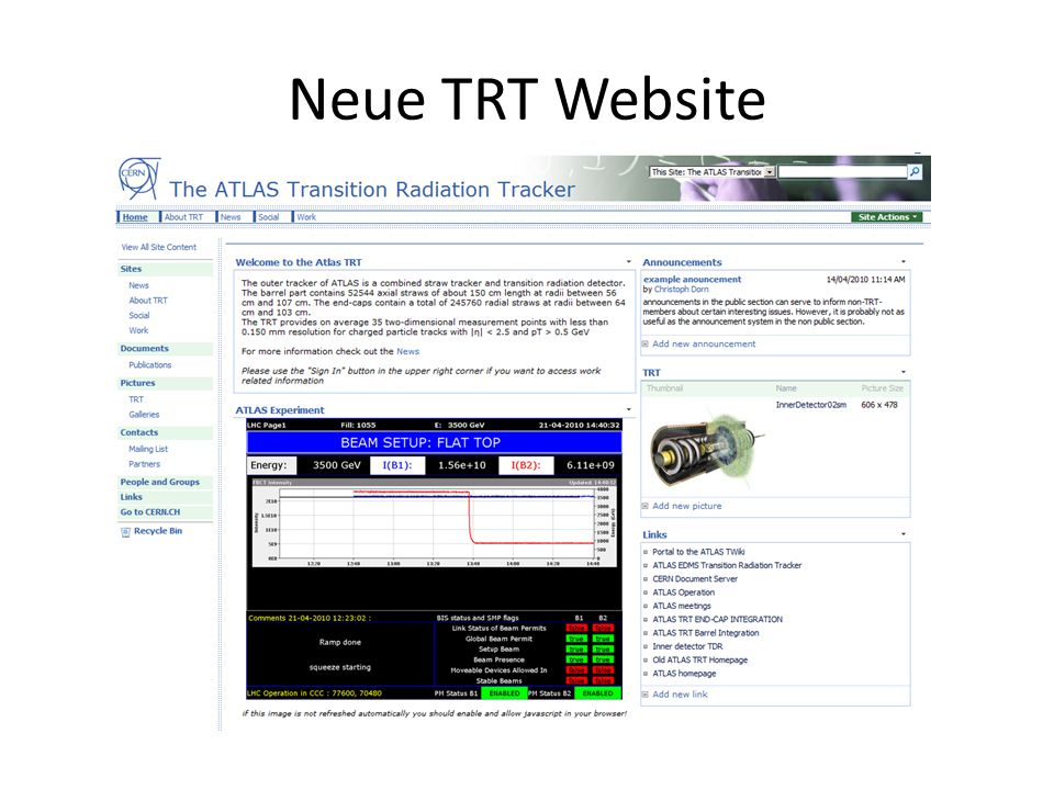 Neue TRT Website