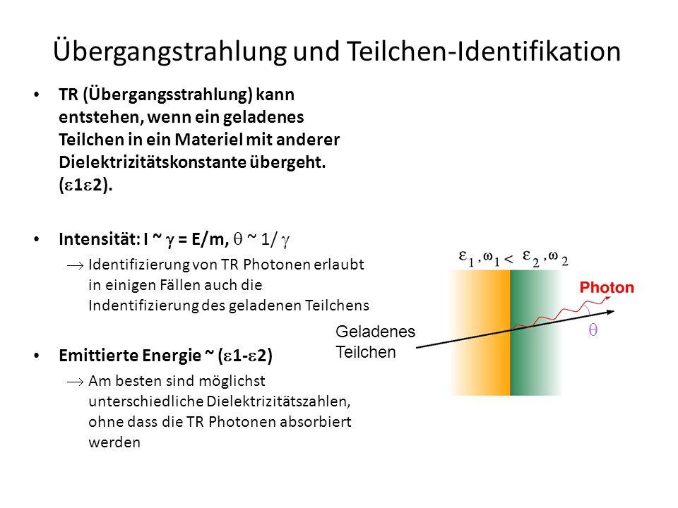 Übergangstrahlung und Teilchen-Identifikation