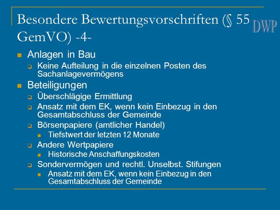 Besondere Bewertungsvorschriften (§ 55 GemVO) -4-