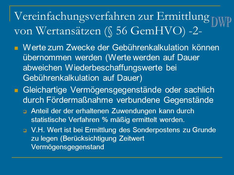 Vereinfachungsverfahren zur Ermittlung von Wertansätzen (§ 56 GemHVO) -2-