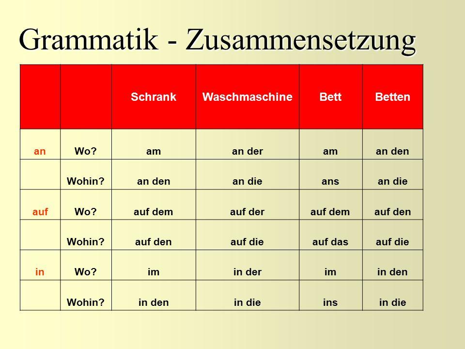 Grammatik - Zusammensetzung
