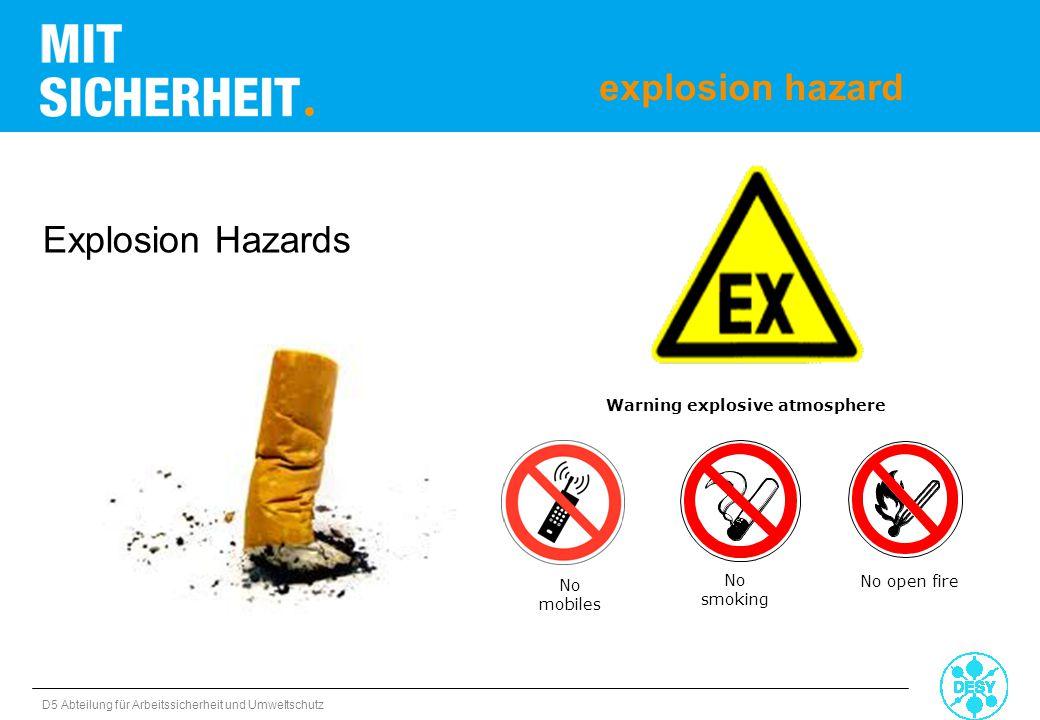 Warning explosive atmosphere