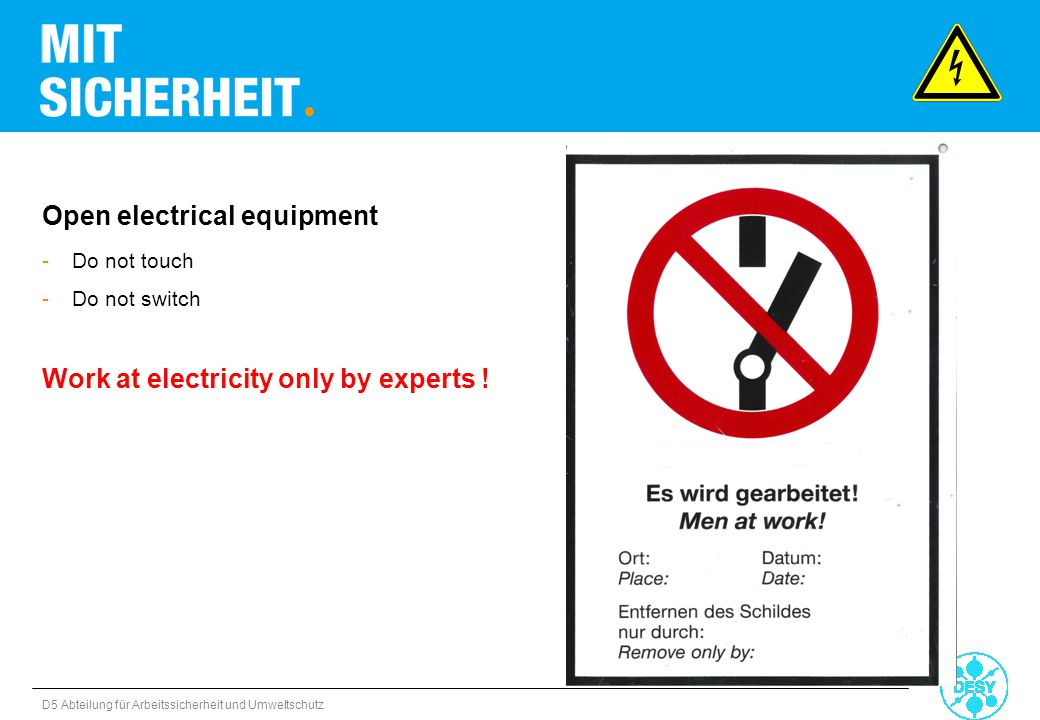 Open electrical equipment