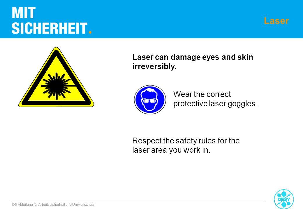 Laser Laser can damage eyes and skin irreversibly.