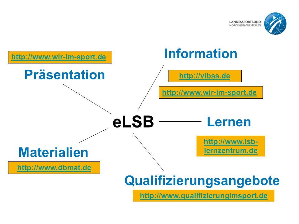 eLSB Information Präsentation Lernen Materialien