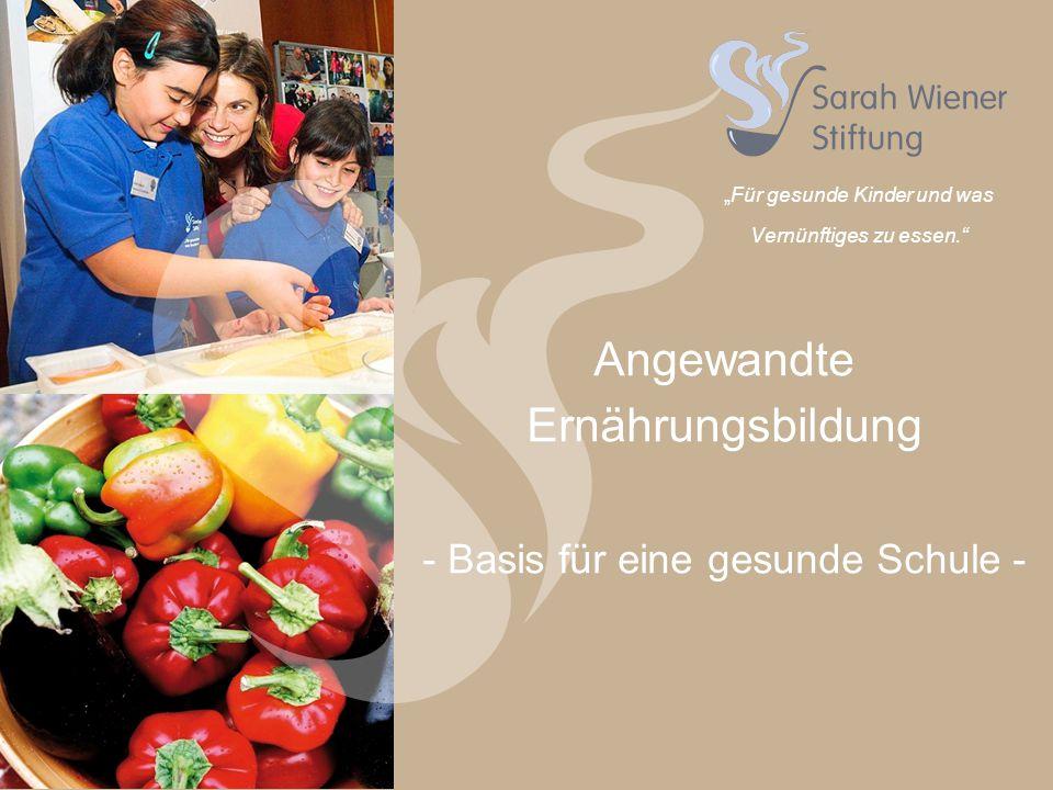 """""""Für gesunde Kinder und was Vernünftiges zu essen."""
