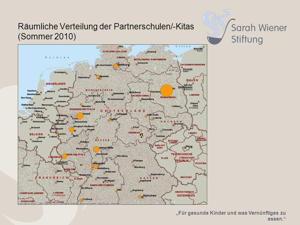 Räumliche Verteilung der Partnerschulen/-Kitas (Sommer 2010)