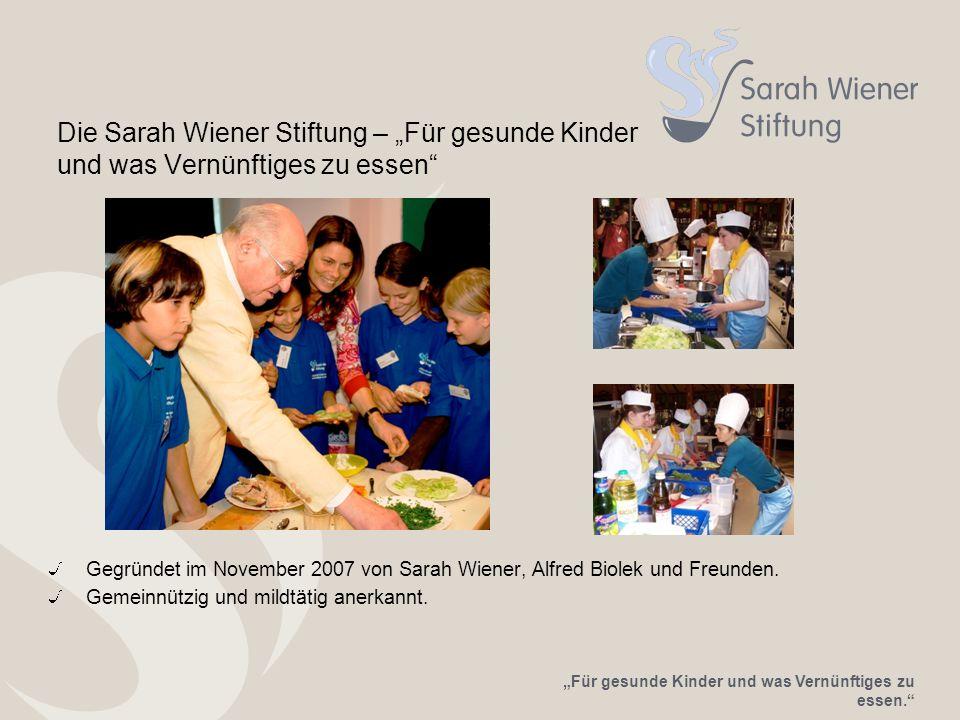 """Die Sarah Wiener Stiftung – """"Für gesunde Kinder und was Vernünftiges zu essen"""