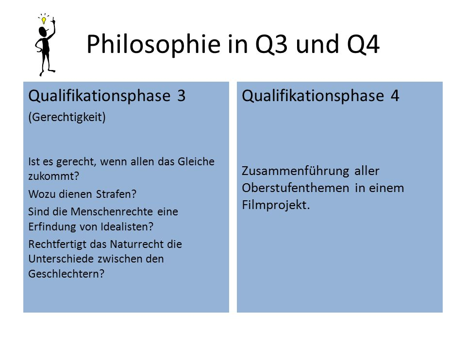 Philosophie in Q3 und Q4 Qualifikationsphase 3 Qualifikationsphase 4