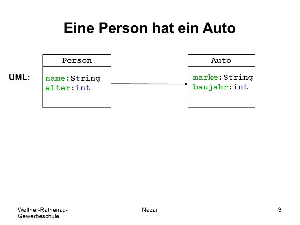 Eine Person hat ein Auto