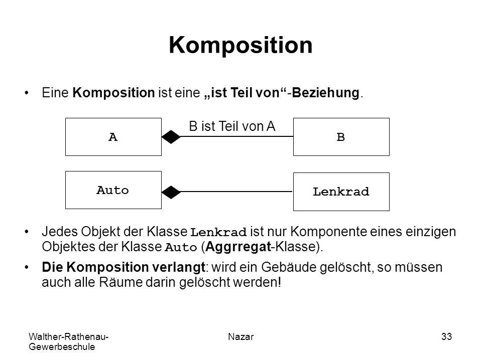 """Komposition Eine Komposition ist eine """"ist Teil von -Beziehung."""
