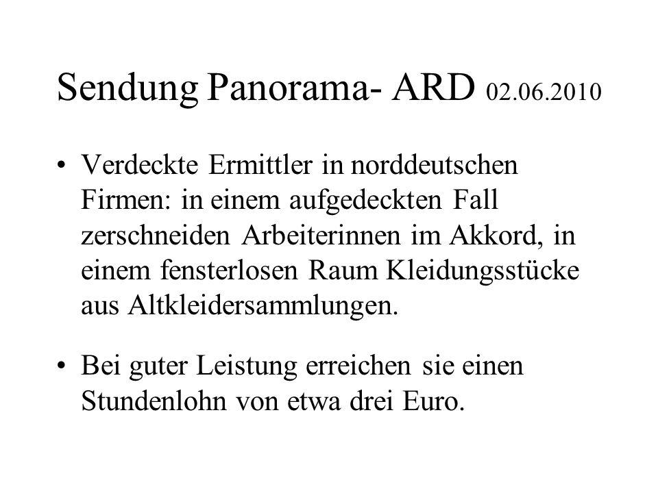 Sendung Panorama- ARD 02.06.2010