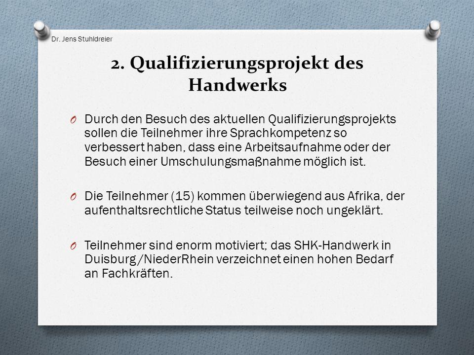 2. Qualifizierungsprojekt des Handwerks