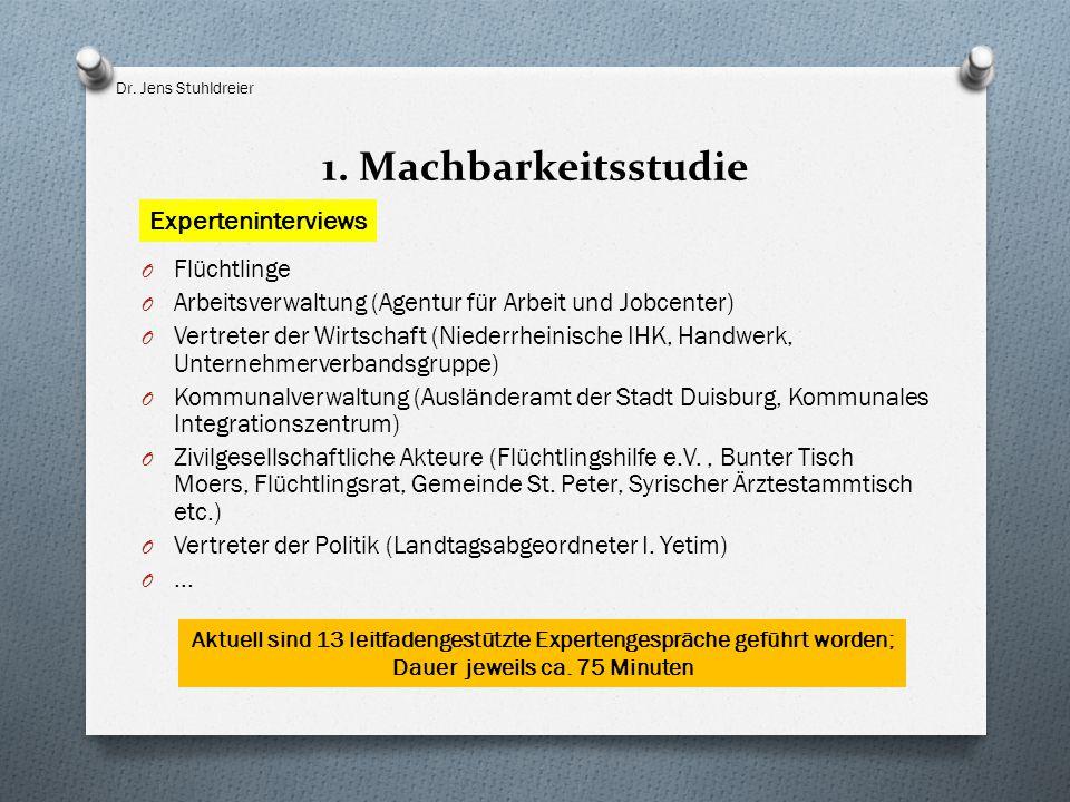 1. Machbarkeitsstudie Experteninterviews Flüchtlinge