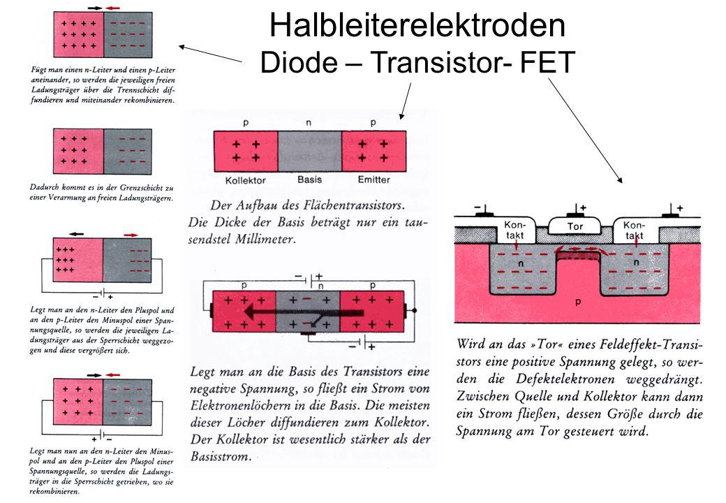 Halbleiterelektroden Diode – Transistor- FET