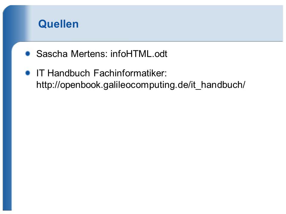 Quellen Sascha Mertens: infoHTML.odt