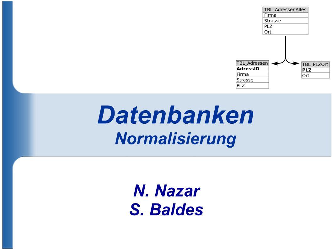 Datenbanken Normalisierung