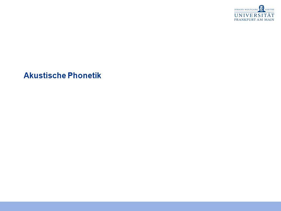 Akustische Phonetik 2
