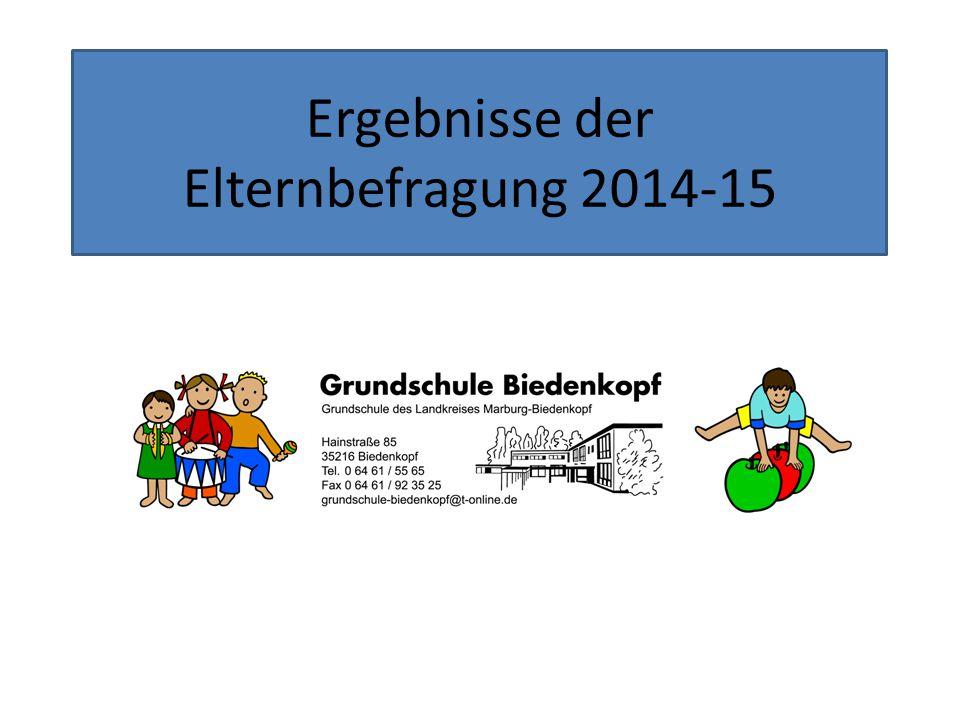 Ergebnisse der Elternbefragung 2014-15