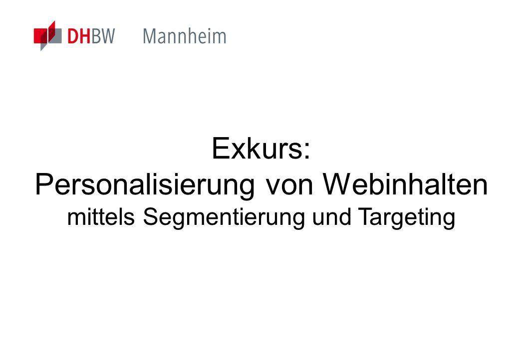 Personalisierung von Webinhalten