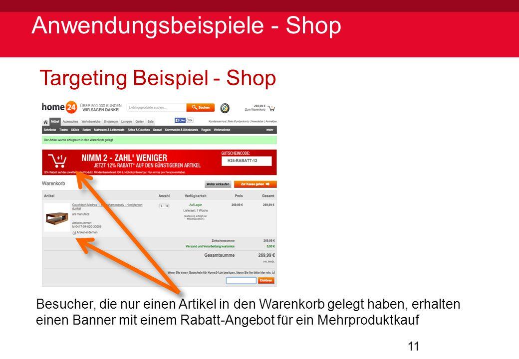 Anwendungsbeispiele - Shop