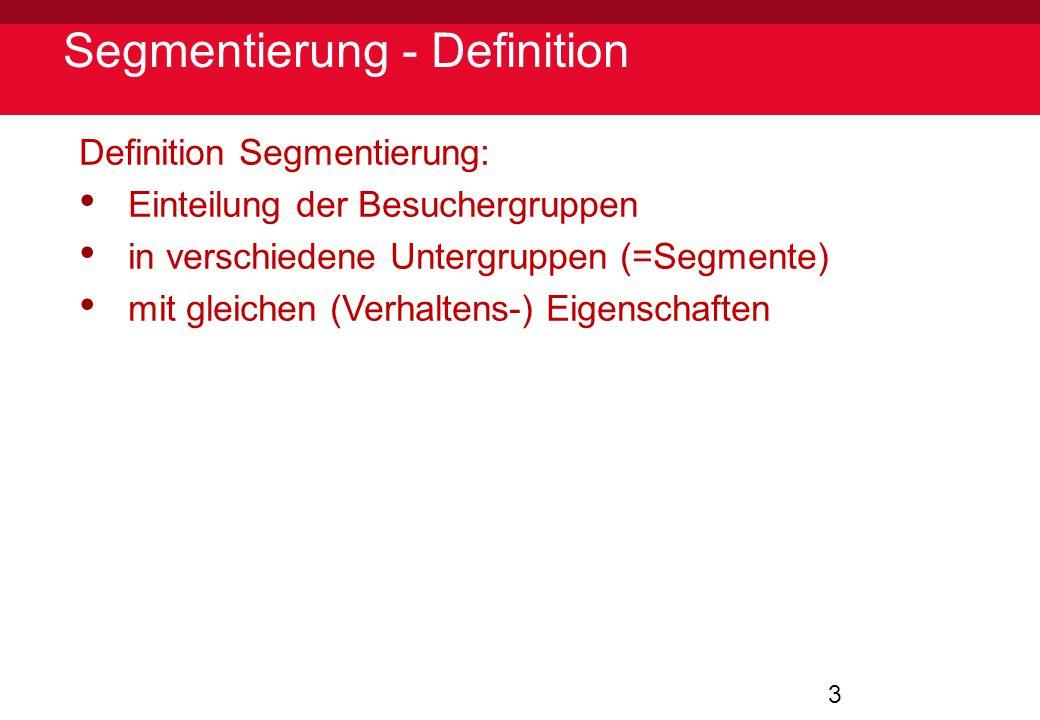 Segmentierung - Definition