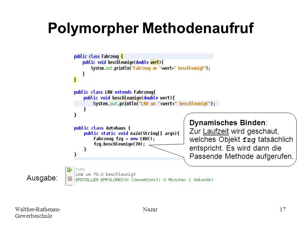 Polymorpher Methodenaufruf