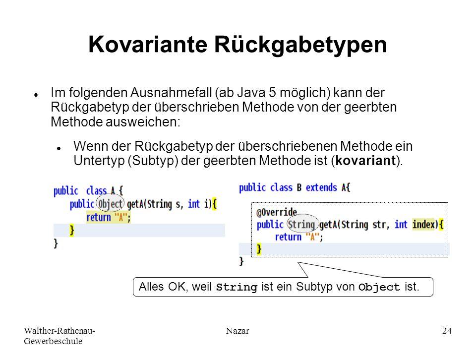 Kovariante Rückgabetypen