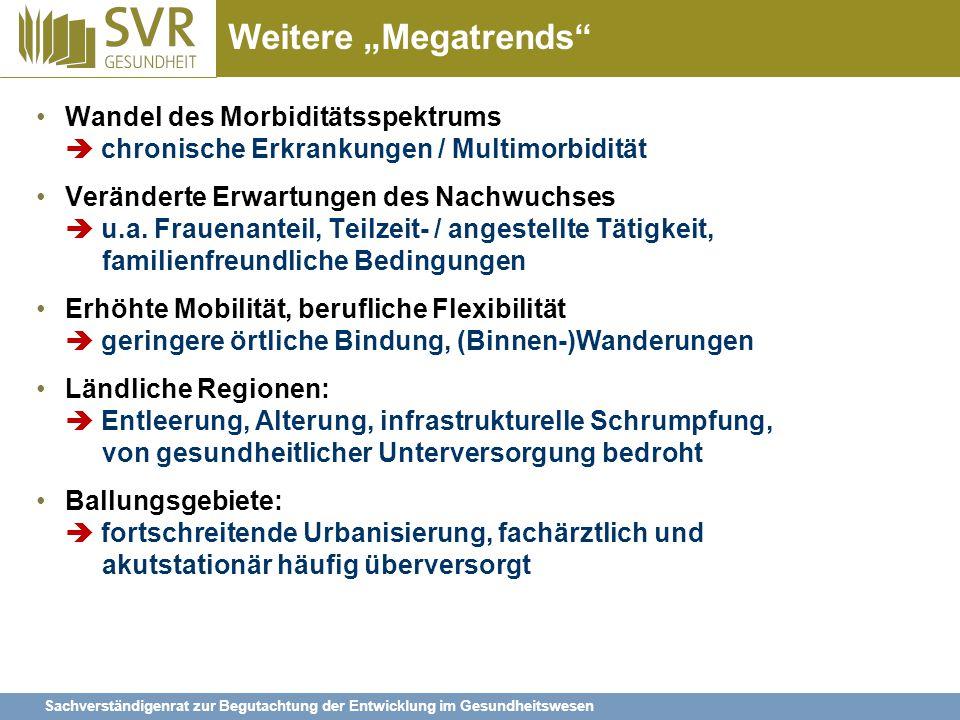 """Weitere """"Megatrends Wandel des Morbiditätsspektrums  chronische Erkrankungen / Multimorbidität."""