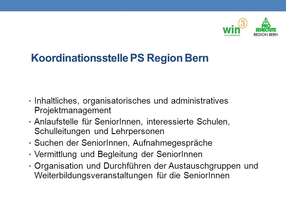 Koordinationsstelle PS Region Bern
