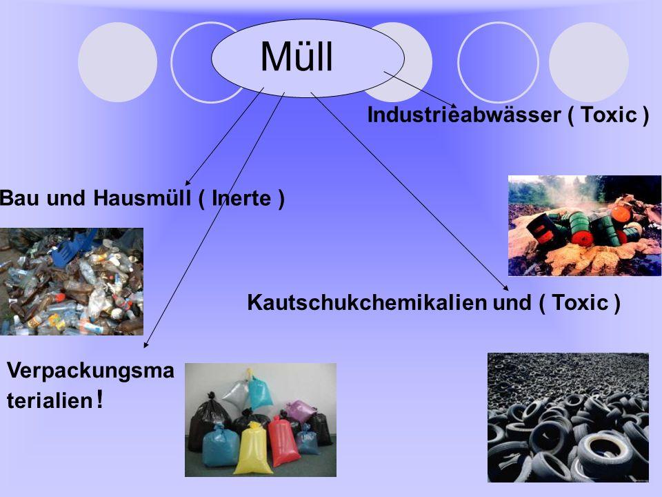 Müll Industrieabwässer ( Toxic ) Bau und Hausmüll ( Inerte )