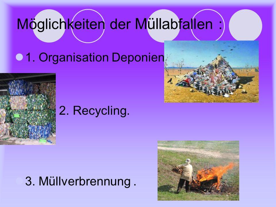 Möglichkeiten der Müllabfallen :